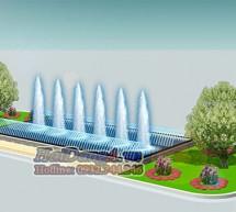 Đài phun nước hồ chữ nhật