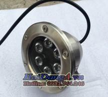 Đèn LED âm dưới nước thả chìm HD-UW6*3W đổi màu tự động