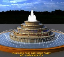 Mẫu đài phun nước hồ nước hình tròn (phần 1)