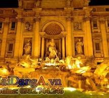 Đài phun nước và hệ thống ống dẫn nước ở Rome