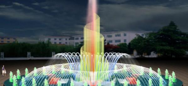 Mẫu hệ thống đài phun nước hồ tròn 10-20 mét