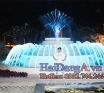 Hình ảnh đài phun nước nghệ thuật tại khu chung cư cao cấp AROMA – Bình Dương