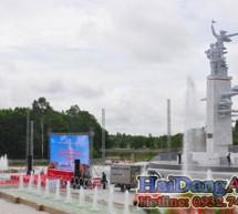 Đài phun nước ngã 3 Đồng Lộc được khánh thành ngày 27-07-2013