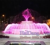 Đài phun nước tại Long An, Bến Lức, thiết kế nhạc nước Hải Đăng