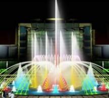 Lựa chọn phương án đài phun nước nghệ thuật hồ tròn 16m