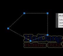 Cách nối liền các đường nét lại thành một trong Auto Cad