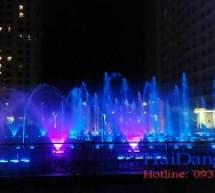 Đài phun nước và nhạc nước tại Times City – Hà Nội