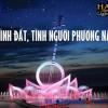 Đài phun nước đàn kìm tại quảng trường Hùng Vương, TP Bạc Liêu