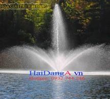 Đài phun nước trên sông hồ tự nhiên