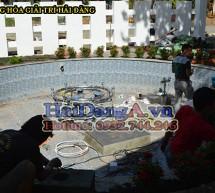 Thi công lắp đặt đài phun nước nghệ thuật cafe Bằng Lăng Tím