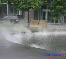 Phun sương cho đài phun nước nghệ thuật