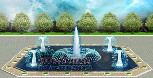 Thiết kế đài phun nước nghệ thuật, nhạc nước
