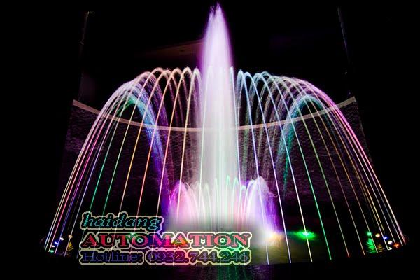Hệ thống phun nước tại khách sạn Melody do Hải Đăng thiết kế và thi công