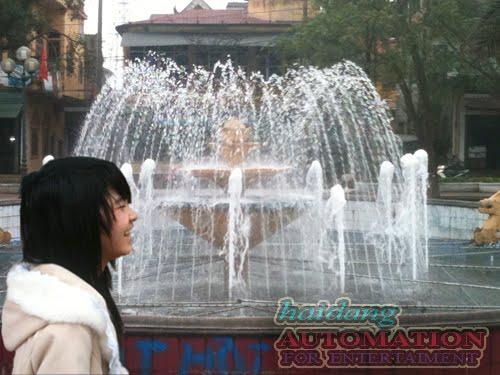 Hệ thống phun nước làm sinh động công viên
