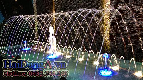 Đài phun nước nghệ thuật hồ hình chữ nhật tại Coffee 86 Quy Nhơn - Bình Định