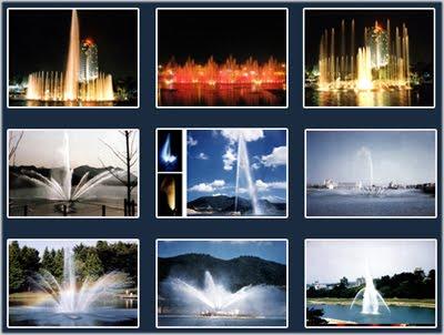 Các mẫu đài phun nước cho hồ tự nhiên