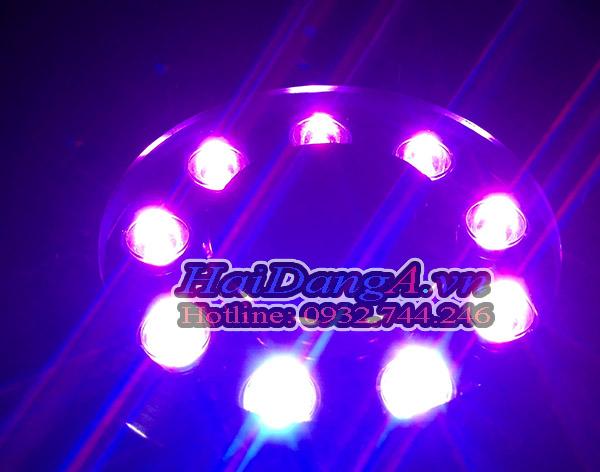 Đèn LED thả chìm dưới nước màu tím tuyệt đẹp