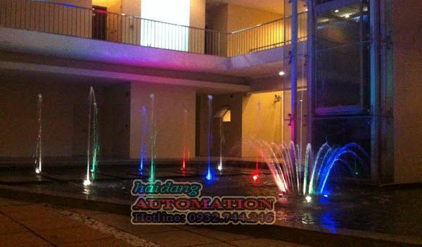 Hệ thống phun nước tại chung cư Grandviews Phú Mỹ Hưng