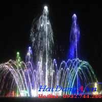 Hình trang dự án phun nước UBND huyện nhà bè