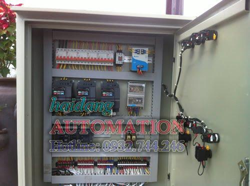 Thiết bị điều khiển hệ thống đài phun nước, nhạc nước được đặt trong tủ điện để ngoài trời