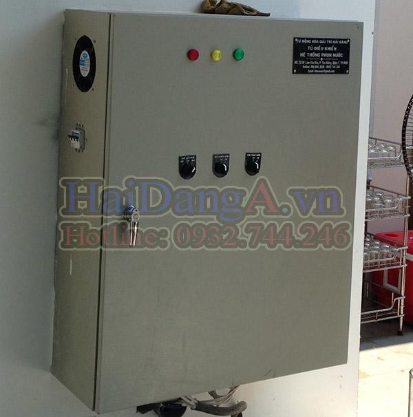 Lắp đặt tủ điều khiển nhạc nước tại công trình