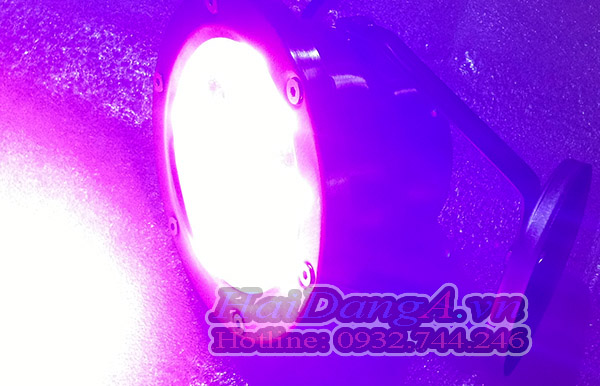 Đèn LED thả chìm dưới nước màu tím