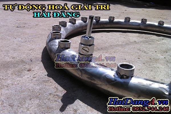Gia công đường ống cho đài phun nươc, nhạc nước