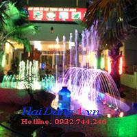 Hình ảnh hệ thống phun nước nhà hàng Đầu Làng