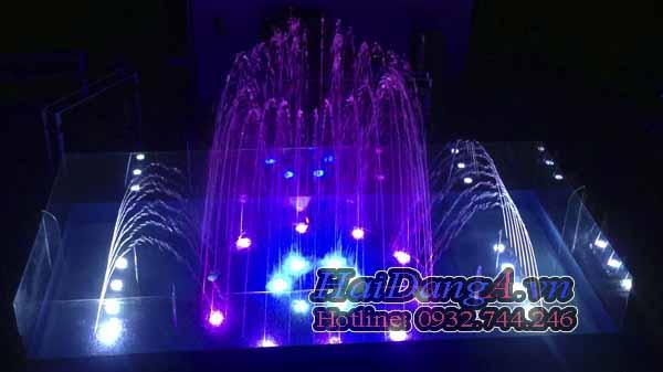 Hệ thống phun nước được điều khiển sinh động, nhịp nhàng