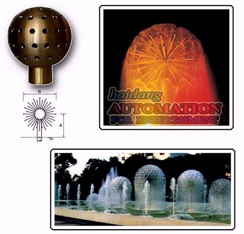 Vòi phun tạo hình quả cầu nước