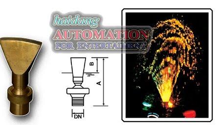Vòi phun nước tạo hình quạt nước nghệ thuật