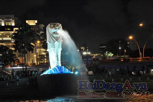 Hướng nhìn trực diện của đầu sư tử phun nước