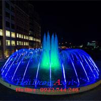 Mẫu đài phun nước hồ tròn