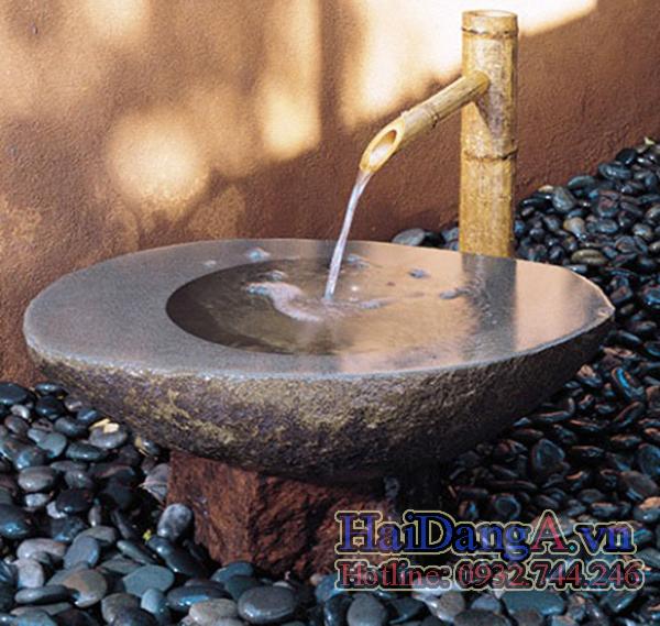 Vòi phun nước nghệ thuật bằng tre