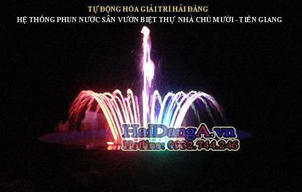 i phun nước nghệ thuật sân vườn biệt thự sân vườn nhà chú Mười - Tiền Giang