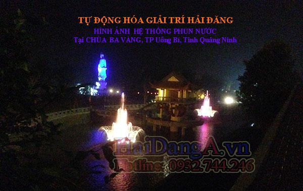 Hệ thống đài phun nước nghệ thuật nhạc nước tại chùa Ba Vàng