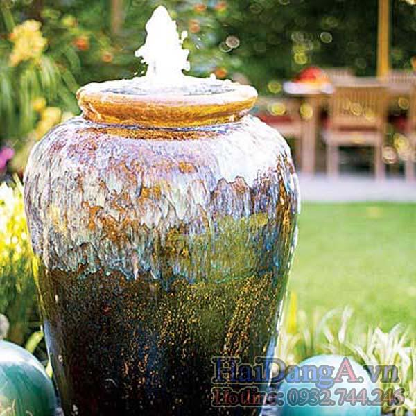 Vẻ đẹp êm ái và du dương của một đài phun nước mang phong cách..