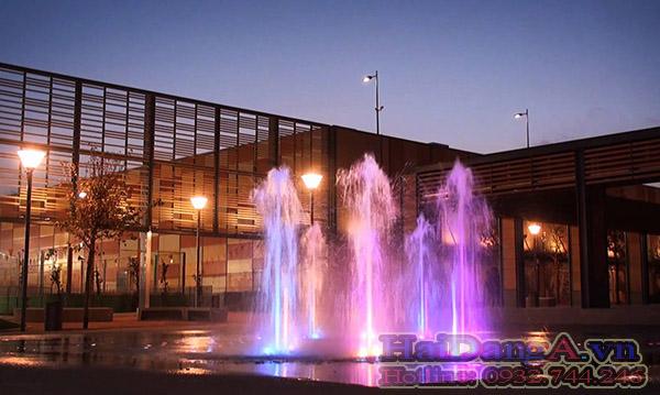 Sân phun nước nghệ thuật vòi phun nước âm sàn