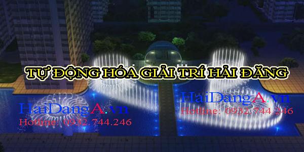 Bản vẽ phối cảnh hệ thống nhạc nước tại Time City