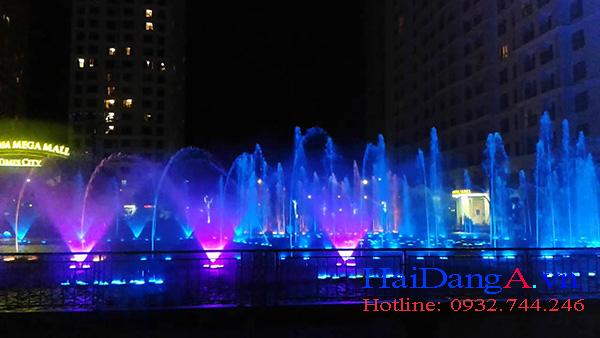 Cận cảnh hệ thống nhạc nước, đài phun nước nghệ thuật tại Time City