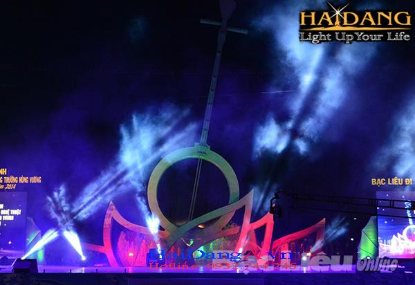 Đèn chiếu sáng biểu tượng văn hóa mới của tỉnh Bạc Liêu