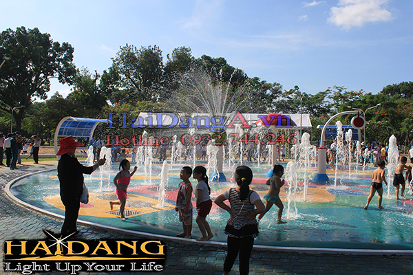 Vòi phun nước âm sàn công viên Gia Định