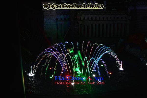 Căn chỉnh đầu béc phun và đèn LED âm dưới nước