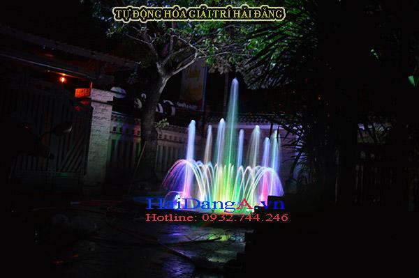 Hoàn thành thi công lắp đặt hệ thống nhạc nước mini đài phun nước tại cafe Thưởng Nguyệt Huế