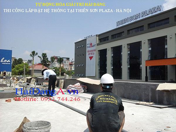 Thi công lắp đặt hệ thống phun nước tại Thiên Sơn Plaza Hà Nội