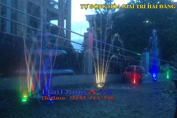 Cận cảnh hệ thống đài phun nước tại BCH quân sự Sóc Trăng