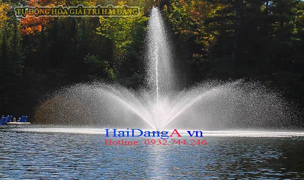 Đài phun nước nghệ thuật phun xòe - Phao nổi trên hồ