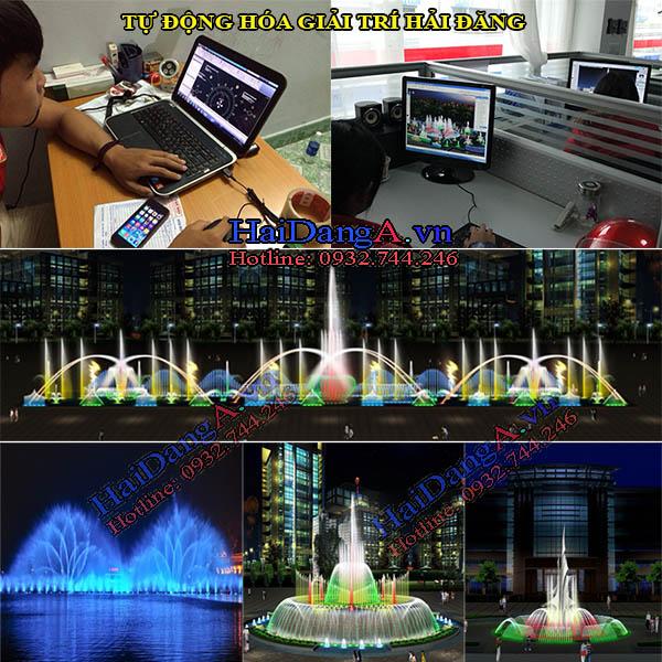 Đội ngủ thiết kế nhạc nước và đài phun nước công ty Hải Đăng