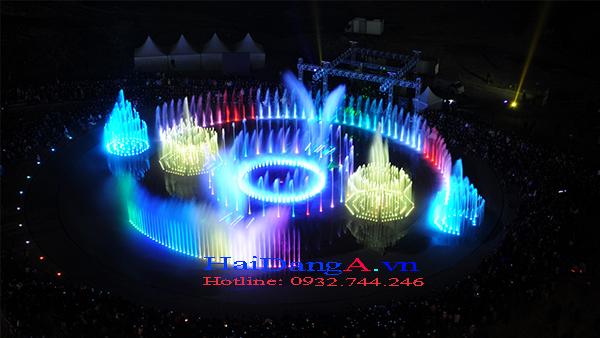 Hệ thống nhạc nước đèn màu rực rỡ