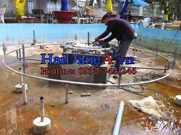 Thi công lắp đặt đài phun nước tại nhà công tử Bạc Liêu